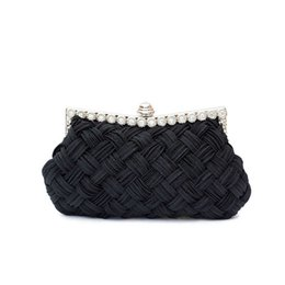 $enCountryForm.capitalKeyWord UK - Evening Weaved 2019 Fashion Handbag Female Clutch Ladie Evening Bag Knitting Evening Party Small Clutch Bag with Chain