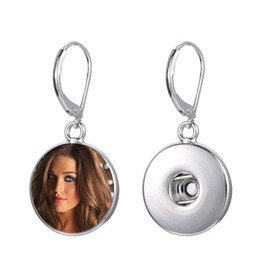 China blank dangle drop earrings for sublimation fashion drop earring for women thermal transfer printing jewelry customized gift wholesales suppliers