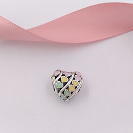 7650627dc Authentic 925 Sterling Silver Beads Multi-Colour Hearts Charm Charms Fits  European Pandora Style Jewelry Bracelets & Necklace 797019ENMX