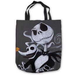 $enCountryForm.capitalKeyWord Canada - Custom Canvas jack skellington Tote Shoulder Shopping Bag Casual Beach HandBag Daily Use Foldable Canvas #180713-1-38