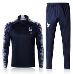 Skinny training pantS men online shopping - 2 Star MBAPPE jacket tracksuits GRIEZMANN POGBA DEMBELE soccer jersey KANTE chandal football training suit skinny pants Sports