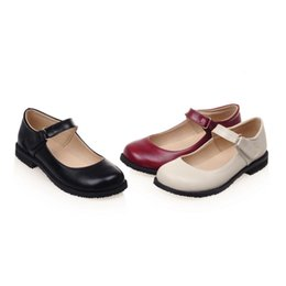 Cute Wedding Shoes NZ - Girl Shoes Flat Comfortable Shoes Vintage Cute Women's Mary Jane Flats Ballet Loafers Women