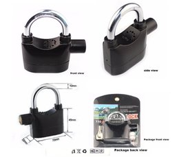 bicycle electronics Australia - Hot Siren Alarm Lock With Keys Anti-Theft Security System for Door Bike Motorcycle Bicycle Electronic Padlock Alarm Lock