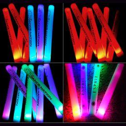 $enCountryForm.capitalKeyWord Australia - 12pcs lot Colorful Sponge Glow Sticks Foam Stick Vocal concert Birthday Party holiday decoration Supplies toys