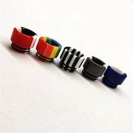$enCountryForm.capitalKeyWord NZ - Hot selling Resin drip tips Colorful Wide Bore SS dripper tip 510 Mouthpiece for TFV8 Baby Tank rda atomizers