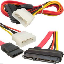 Sata Hdd Led Australia - Wholesale- 2Pcs SATA Combo Data Cable to 4 Pin IDE Molex & Serial ATA Power HDD DVD Adapter Lead