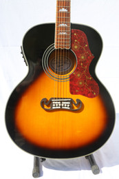 Discount eq fishman Free ShippingHigh quality Spruce top Fishman EQ Tortoise Pickguard J200 Acoustic guitar Guitarra all color Accept
