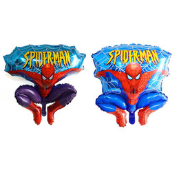 Aluminum Happy Spiderman Red Balloon For Wedding Birthday Party Supplies Decoration Cartoons Foil Ballon Free DHL 674