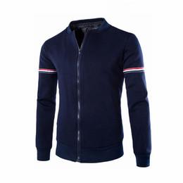 Discount decorative sleeves - 2018 NEW Fashion men Autumn Winter Decorative Ribbon Leisure Cotton Long Sleeve Jacket Collar Men Casual Coat #0612