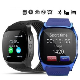 Smart Watch Android Sync Australia - For Android New T8 Bluetooth Smart Pedometer Watches Support SIM &TF Card With Camera Sync Call Message Men Women Smartwatch Watch
