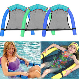 $enCountryForm.capitalKeyWord Australia - 10PCS Floating Swimming Seats Amazing Bed Noodle Chairs Swimming Ring Chair Pool & Accessories Child Adult Mesh Swimming Fun Toys