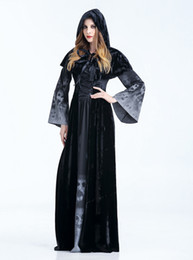 Wholesale halloween witch cosplay for women for sale – halloween Costume Adult Cosplay Fairy Tale Curse Witchcraft Cosplay Halloween Witch Queen Long Dress Witch Clothes Fancy Vampire Dress for Halloween