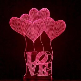$enCountryForm.capitalKeyWord Australia - 2017 Valentine's Day LOVE 3D lights colorful touch visual stereo lapm energy-saving gradient table lamp night light