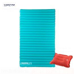 $enCountryForm.capitalKeyWord NZ - 40D nylon TPU Waterproof Mat Outdoor Camping Double Inflatable Sleeping Pad Press-Type Air Bed Beach Mattress NH17T120-UM L