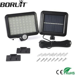Solar Powered Pir Floodlights NZ - Boruit 56 LED Solar Powered Light with PIR Body Motion Sensor Lamp Outdoor Floodlights Garden Yard Spotlights Wall Lighting
