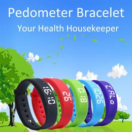 $enCountryForm.capitalKeyWord Canada - W5 Smart Watch Wristband Bracelet Bluetooth Sport Watch Pedometer Calory Sleeping monitor 3D Pedometer Thermometer Silent Vibration clock