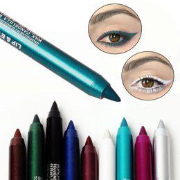 e9b89ad68 Moda Cosméticos lindos Maquillaje de ojos baratos de larga duración  delineador de ojos Lápiz pigmento a prueba de agua rojo azul blanco  delineador de ojos ...