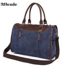 6541294ef MTENLE Men's Travel Bags Carry on Luggage Bag Men Duffel Bags Travel Tote  Large Capacity Vintage Canvas Bag Weekend Overnight F