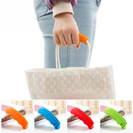 silicone bag handles 2019 - Soft Shopping Bag Clip Comfortable Carry Handle Tools Kitchen Gadgets Silicone Carry Bags Accessories Save Effort Bag Cl