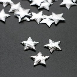 $enCountryForm.capitalKeyWord NZ - 500PCS LOT Silver Star applique merry Christmas ornament for candy gift box decoration home natal diy craft accessory Y18102609