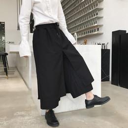 Nueva Moda Masculina Harem Pantalones Harem Etapa Desgaste Pantalones de  Pierna Ancha Trajes Hombres Japón Estilo Kimono Falda Pant cd725babf66
