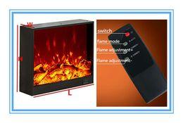 Cheminée électrique incorporée 740 * 180 * 600mm avec le contrôleur 3D de décor de flamme à distance Écran Visual en Solde