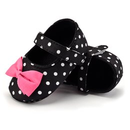 First Walkers Baby Shoes Cheap Sale New Cute Polka Dot Baby Shoes Butterfly-knot Baby Dress Shoes For Girls Grade Products According To Quality