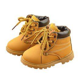 kids fashion winter shoes UK - kids winter Fashion Child Leather Snow Boots For Girls Boys Warm Martin Boots Shoes Casual Plush Child Baby Toddler Shoe