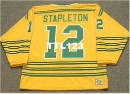 28179b17b Discount 1973 s - Mens #12 PAT STAPLETON Chicago Cougars 1973 WHA Retro  Away Hockey