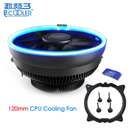 Am3 Fan NZ - PcCooler 12cm 4Pin Fan Cooler LED Blue Aperture CPU Cooling Fan PWM Silent Radiator For Intel LGA 775 115X for AMD AM2 AM3 AM4