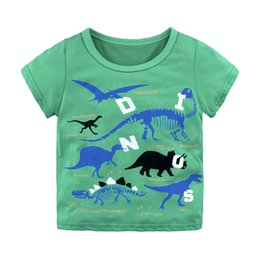 kids cartoons t shirts wholesale Australia - green T-shirts for baby boys cotton summer dress kids tales short sleeve boy clothing children clothes T shirt cartoon dress T-shirts