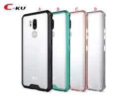 clear rugged cases 2019 - Hybrid Rugged Armor Shockproof Clear Hard Case For Iphone XR XS Max X LG G7 K10 2018 Oneplus 6 Transparent TPU PC Phone