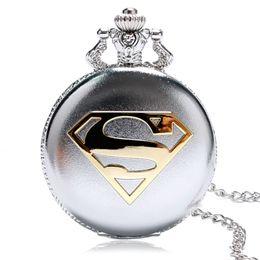 $enCountryForm.capitalKeyWord Australia - 2016 New Arrival Classic Comic Superman Quartz Pocket Watch Meaningful Gift For Men Women Relogio De Bolso