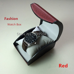 $enCountryForm.capitalKeyWord Australia - Cheap Plastic Watch Storage Box Red Brand Bracelet And Watch Boxes With Pillow Fashion Packing Box Gift
