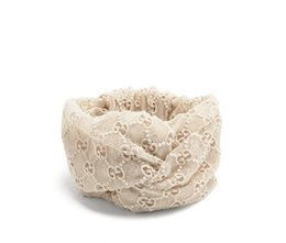 Chinese  WHITE Designer Lace Heaband hair bands for Women New Arrival Fashion Luxury Brand embroidery headbands Best Quality manufacturers