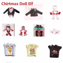 Kids christmas booKs online shopping - Elf Clothes Plush Dolls Toys Soft Book Clothes Gift Red Boy Girl Doll On The Shelf Christmas Toys Kids Toy Cartoon Clothing CCA10576