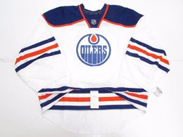 55a906240 Cheap Custom EDMONTON OILERS AUTHENTIC AWAY TEAM ISSUED EDGE JERSEY GOALIE  CUT 60 Mens Stitched Personalized hockey Jerseys
