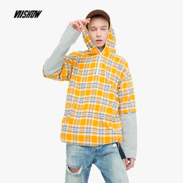 Design Red Shirt Australia - VIISHOW New design hoodie shirt men brand-clothing fashion Plaid shirt male top quality Patchwork casual shirts Yellow CC1730183