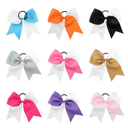 $enCountryForm.capitalKeyWord Australia - 8 Inch 12 Colors Children Bows Forked Tail Ribbon Hair Bands For Girls Kids Double Color Candy Cute Hair Clips Cheer Bow Hair Accessory