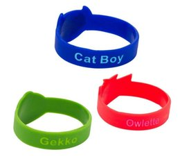 Wholesale jelly online shopping - 2018 New PJ Characters Catboy Owlette Gekko Cloak Masks Action Figure Toys Bracelets Silicone Wristband Children Gifts