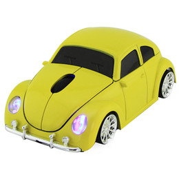 China Wireless Mouse for VW Beetle Car Shape Mice 1600DPI Optical Computer Gaming Mice For Xmas Gift PC Laptop Desktop supplier optical mouse car suppliers
