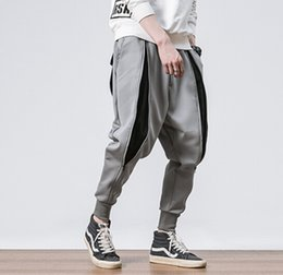 Mens capris online shopping - Autumn Winter Mens New Casual Patchwork Pants Zipper Design Mens Fashion Pants