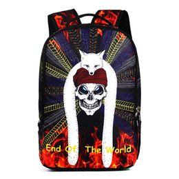 $enCountryForm.capitalKeyWord UK - Mini Backpack Women Men Anti Theft Laptop Bagpacks for Teenager Girls Boys School Travel Bags Kawaii 3D Skull College Back Pack