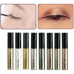Discount shimmer glitter colorful eyes shadow - 8 Colors lot Colorful Eye Liner Shadow Sticker Eyeshadow & Eyeliner Pen Shimmer Glitter Shining Cosmetics Makeup Colors