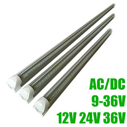 Discount low voltage bulbs 4 ft DC24V LED Tube T8 18W Integration Lower Voltage DC12V LED Tubes light Cold White 6000-6500K 36V Cooler led lights f