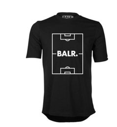black football field UK - Men's T Shirts Football field print Balr T-shirt short-sleeved round neck cotton T-Shirts Men T-shirt Tops Tees Euro size