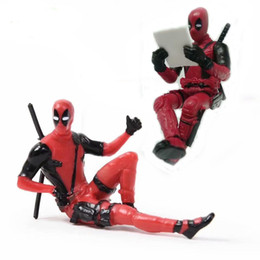 Doll Decoration games online shopping - 7CM Deadpool Figure Toy Sitting Anime PVC Action Figure Toys Mini Model Doll Kids Decoration gift Novelty Games GGA901