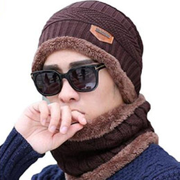 $enCountryForm.capitalKeyWord NZ - Hot Sale Mask hat with scarf Fashion Winter Spring Sports Beanies Casual Knitted Hip Hop hats in stock