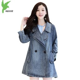 $enCountryForm.capitalKeyWord NZ - Denim jacket women's 2018 spring high quality Outerwear jeans jacket women Windbreaker autumn Plus size coat female OKXGNZ 1718