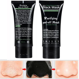 acne purifying peel off black mask Australia - DHL SHILLS Black Mask Blackhead Remover Deep Cleansing Peel Off Black Mud Face Mask Purifying Peel Acne Black Heads Remover Pore Facial Mask